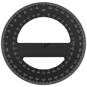 Acrimet 360 degree Protractor Premium (Black Color) Code 553.1
