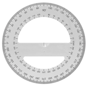 Acrimet 360 degree Protractor Premium (White Color) Code 553.2