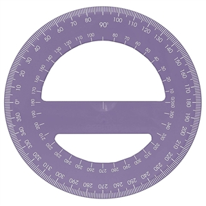 Acrimet 360 degree Protractor Premium (Purple Color) Code 553.3