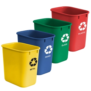Acrimet Wastebasket for Recycling 27QT (4 Units) Code 574.0