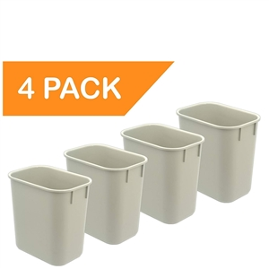 Acrimet Wastebasket 13QT (Light Gray Color) 4 - Pack Code 576.1