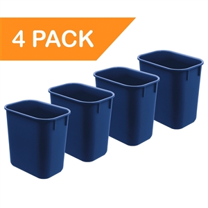 Acrimet Wastebasket 13QT (Blue Color) 4 - Pack Code 576.4