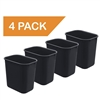 Acrimet Wastebasket 27QT (Black Color) 4 - Pack Code 577.2