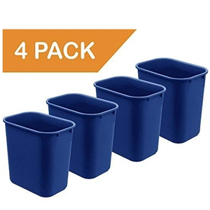 Acrimet Wastebasket 27QT (4 Units) (Blue Color) Code 577.4
