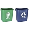 Acrimet Wastebasket for Recycling and Waste 13QT (2 Units) (Green and Blue) Code 578.3