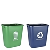 Acrimet Wastebasket for Recycling and Waste 27QT (2 units) (Green and Blue) Code 578.5