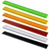Acrimet Plastic Ruler 12 Inches and 30 cm Heavy Duty (Citric Assorted Color) (6 Pack)