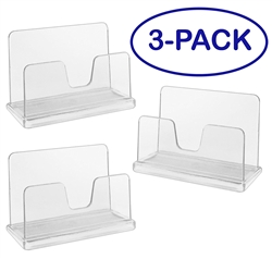 Acrimet Business Card Holder (3 Pack) (Crystal Color) Code 730.1