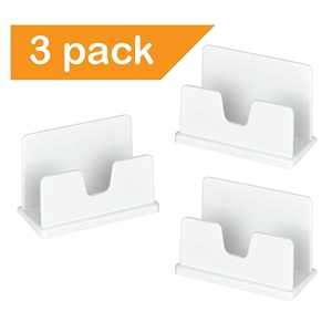 Acrimet Business Card Holder (3 Pack) (White Color) Code 730.6