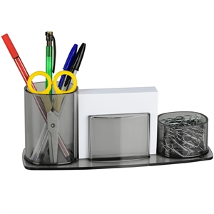 Acrimet Millennium Desk Organizer Pencil Paper Clip Cup Holder (With Paper) (Smoke Color) Code 740.1
