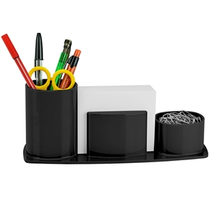 Acrimet Millennium Desk Organizer Pencil Paper Clip Cup Holder (With Paper) (Black Color) Code 740.4