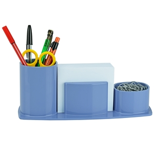 Acrimet Millennium Desk Organizer Pencil Paper Clip Cup Holder (With Paper) (Solid Blue) code 740.AO