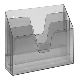 Acrimet Horizontal Triple File Folder Organizer (Clear Smoke Color) Code 860.0