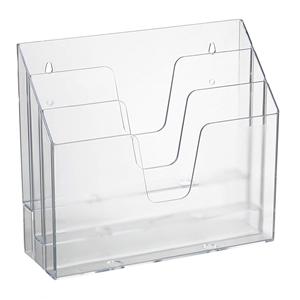 Acrimet Horizontal Triple File Folder Organizer (Clear Crystal Color) Code 860.1