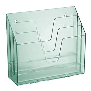 Acrimet Horizontal Triple File Folder Organizer (Clear Green Color) Code 860.3