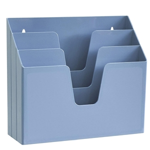 Acrimet Horizontal Triple File Folder Organizer (Solid Blue Color) Code 860.AO