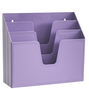 Acrimet Horizontal Triple File Folder Organizer (Solid Purple Color) Code 860.LO