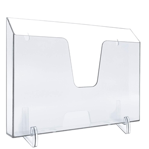 Acrimet Pocket File Holder Horizontal Design Brochure Display (for Wall Mount or Countertop Use) (Removable Supports Included) (Letter Size) (Crystal Color) Code 862.1