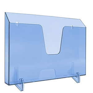 Acrimet Pocket File Holder Horizontal Design Brochure Display (for Wall Mount or Countertop Use) (Removable Supports Included) (Letter Size) (Clear Blue Color) Code 862.2