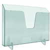 Acrimet Pocket File Holder Horizontal Design Brochure Display (for Wall Mount or Countertop Use) (Removable Supports Included) (Letter Size) (Clear Green Color) Code 862.3