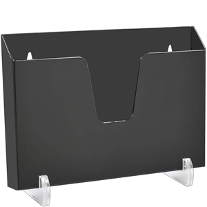 Acrimet Pocket File Holder Horizontal Design Brochure Display (for Wall Mount or Countertop Use) (Removable Supports Included) (Letter Size) (Black Color) Code 862.4