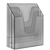 Acrimet Vertical File Folder Organizer (Clear Smoke Color) Code 864.0