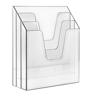 Acrimet Vertical File Folder Organizer (Clear Crystal Color) Code 864.1