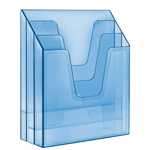 Acrimet Vertical File Folder Organizer (Clear Blue Color) Code 864.2