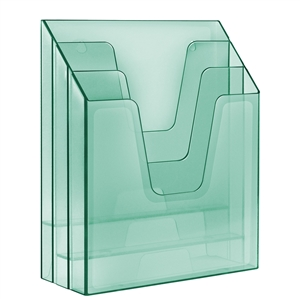 Acrimet Vertical File Folder Organizer (Clear Green Color) Code 864.3