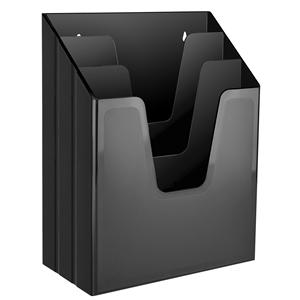 Acrimet Vertical File Folder Organizer (Solid Black Color) Code 864.4