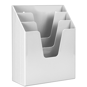 Acrimet Vertical File Folder Organizer (Solid White Color) Code 864.BO