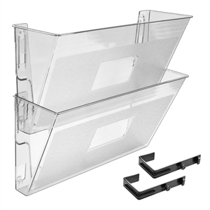 Acrimet Wall-Mounted Modular File Holder (Clear Crystal Color) 2 Pack Code 867.1
