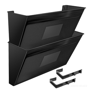 Acrimet Wall-Mounted Modular File Holder (Solid Black Color) 2 Pack Code 867.5