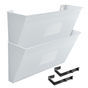 Acrimet Wall-Mounted Modular File Holder (Solid White Color) 2 Pack Code 867.6