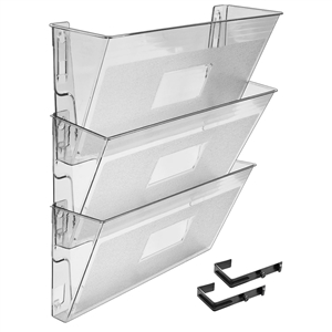 Acrimet Wall-Mounted Modular File Holder (Crystal Color) 3  Pack Code 868.1