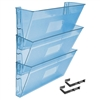 Acrimet Wall - Mounted Modular File Holder (Clear Blue Color) 3 Pack Code 868.3