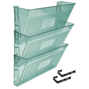 Acrimet Wall-Mounted Modular File Holder (Clear Green Color) 3 Pack Code 868.4