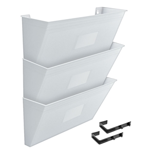 Acrimet Wall - Mounted Modular File Holder (White Color) 3 Pack Code 868.6