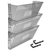 Acrimet Wall-Mounted Modular File Holder (Clear Smoke Color) 3 Pack Code 868.7