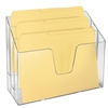 Acrimet Horizontal Triple File Folder Organizer Folders Included (Crystal Color) Code 869.1