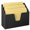 Acrimet Horizontal Triple File Folder Organizer Folders Included (Black Color) Code 869.4