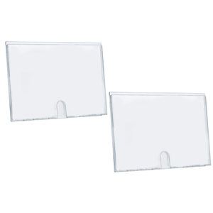 "Acrimet Wall Mount Sign Holder Display 17.5"" x 12.5"" Self Adhesive (A3 Size) (2 Pack) (Clear Crystal) Code 873.4"