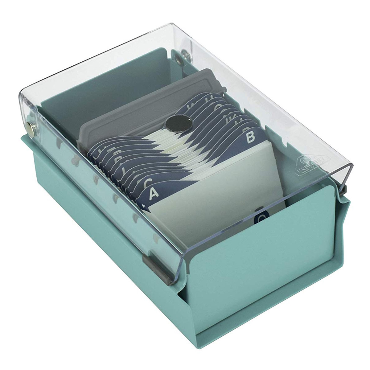 Acrimet Index Business Card File holder (Green Color with Crystal ...