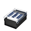 Acrimet 3 X 5 Card File Holder Organizer Metal Base Heavy Duty (Black Color with Crystal Plastic Lid Cover) Code 921.7