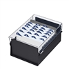 Acrimet 4 X 6 Card File Holder Organizer Metal Base Heavy Duty (Black Color with Crystal Plastic Lid Cover) Code 922.7