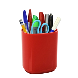 Acrimet Jumbo Pencil Cup Holder (Solid Red Color)