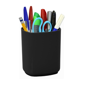 Acrimet Jumbo Pencil Cup Holder (Solid Black Color)