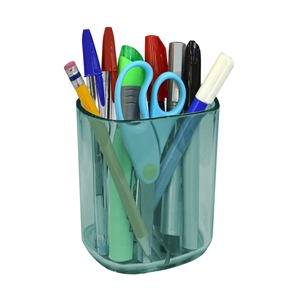 Acrimet Jumbo Pencil Holder Cup (Clear Green Color)
