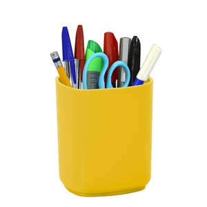 Acrimet Jumbo Pencil Holder Cup  (Solid Yellow Color)