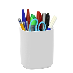 Acrimet Jumbo Pencil Holder Cup  (Solid White Color)